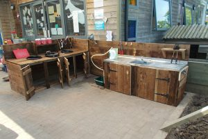 Robins Childcare Pre-School Gruffalos Mud Kitchen